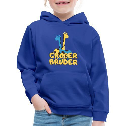 großer Bruder Baby Babyparty Shirt - Kinder Premium Hoodie