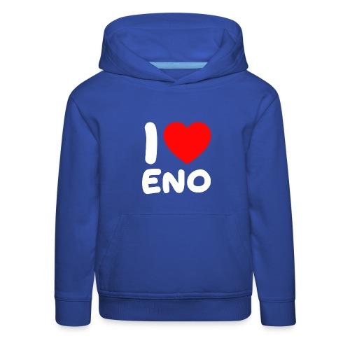 I love Eno / valkoinen - Lasten premium huppari