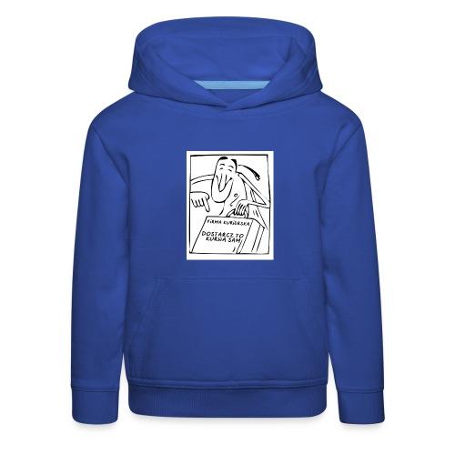 firma kurierska przod - Bluza dziecięca z kapturem Premium