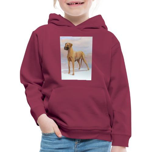 Great Dane Yellow - Premium hættetrøje til børn