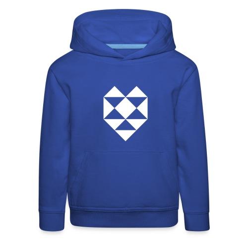 Herz Dreieck - Kinder Premium Hoodie
