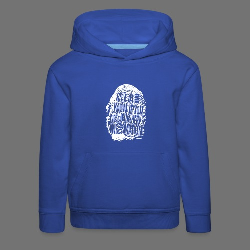 Fingerprint DNA (white) - Kinder Premium Hoodie