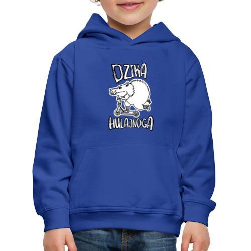 dzik na hulajnodze - Bluza dziecięca z kapturem Premium
