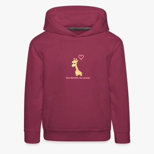 Giraffe Me Crazy - Premium hættetrøje til børn