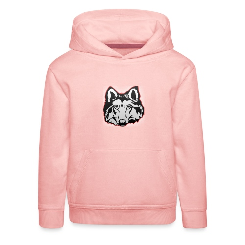 Wolfie (Red) - Kids' Premium Hoodie