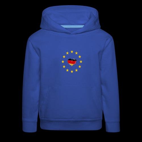 Europa Deutschland Herz - Kinder Premium Hoodie