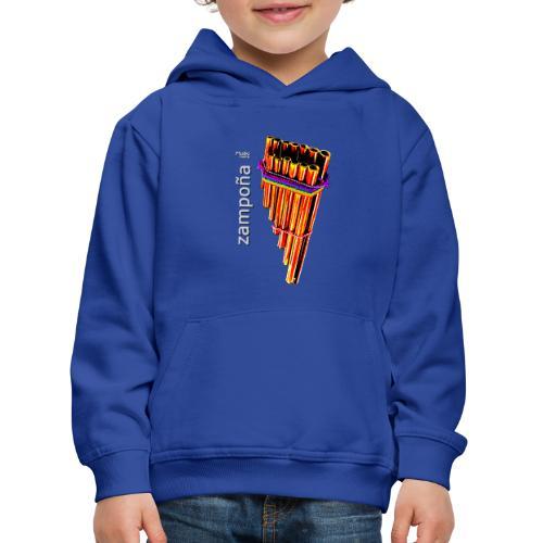 Zampoña clara - Sudadera con capucha premium niño