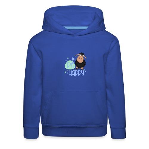 Schwarzes Schaf - Be happy Schaf - Glücksbringer - Kinder Premium Hoodie