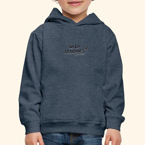 noloabandones negro - Sudadera con capucha premium niño