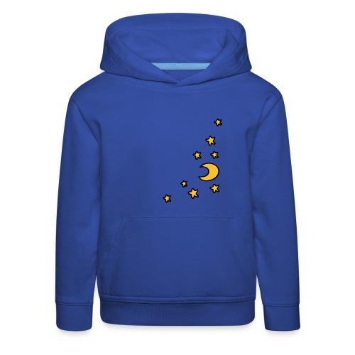 Mond und Sterne - Kinder Premium Hoodie