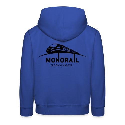 Monorail Hvit - Premium Barne-hettegenser