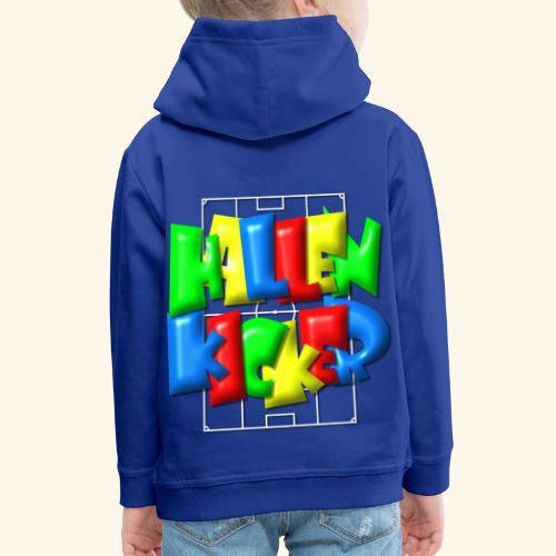 Hallenkicker im Fußballfeld - Balloon-Style - Kinder Premium Hoodie