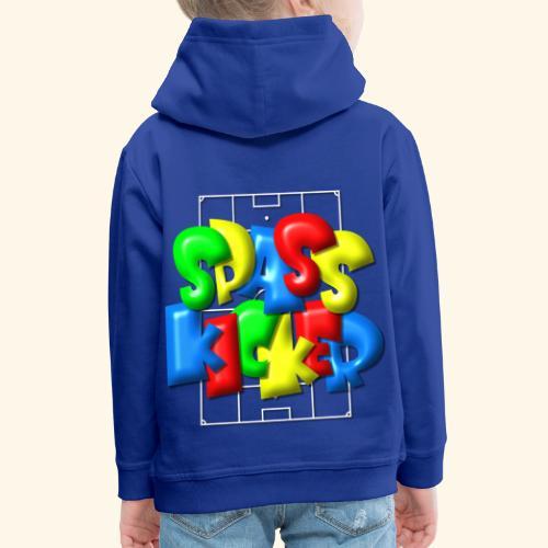 Spass Kicker im Fußballfeld - Balloon-Style - Kinder Premium Hoodie
