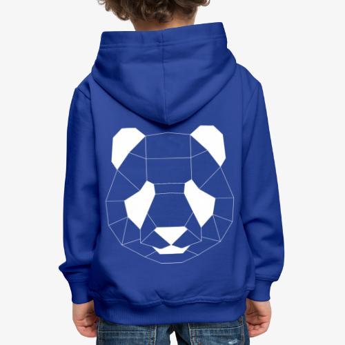 Panda Geometrisch weiss - Kinder Premium Hoodie