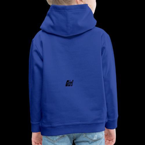 Girl - Felpa con cappuccio Premium per bambini