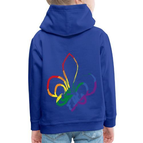 Pinselstrich Lilie Regebogenfahne - Kinder Premium Hoodie