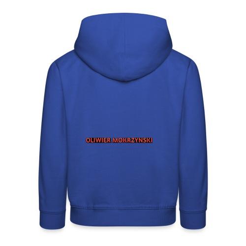 Red Oliwier Mokrzynski logo - Kids' Premium Hoodie