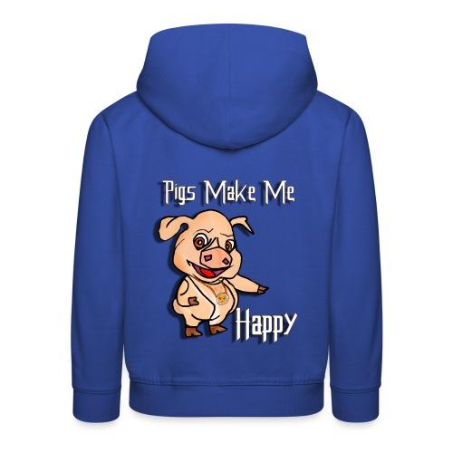 Oh my God pigs maakt mij blij - Kinderen trui Premium met capuchon