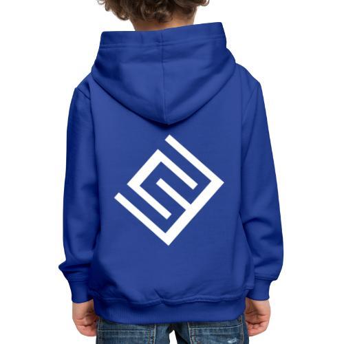 ChrisWhippit Logo Vit - Premium-Luvtröja barn