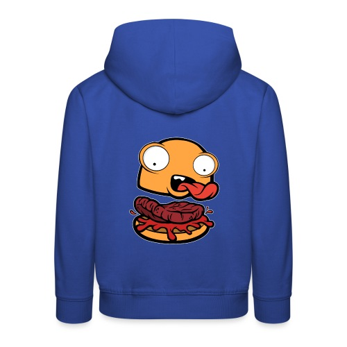 Crazy Burger - Sudadera con capucha premium niño