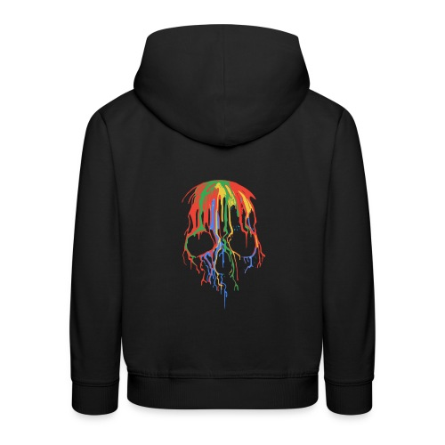 Skull and Colours - Sudadera con capucha premium niño