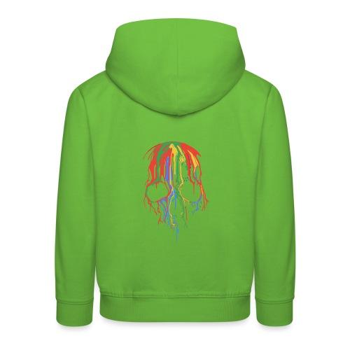 Skull and Colours - Sudadera con capucha premium niño