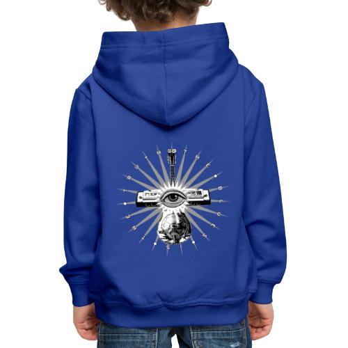 Blues Is The Truth - grey star - Kids' Premium Hoodie