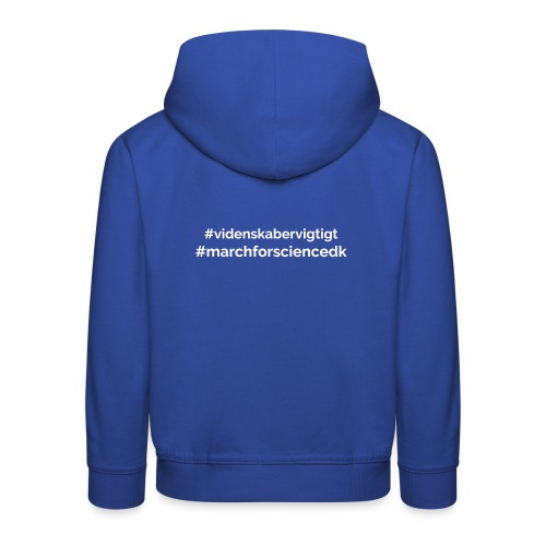 March for Science Danmark - Kids' Premium Hoodie