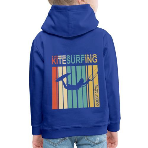 Kitesurfing Ouest Côte - Pull à capuche Premium Enfant