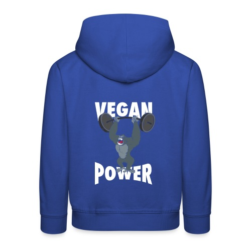 Vegan Power - Gorilla Bodybuilding - Kinder Premium Hoodie