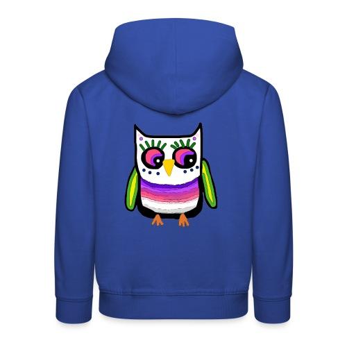 Colorful owl - Kids' Premium Hoodie