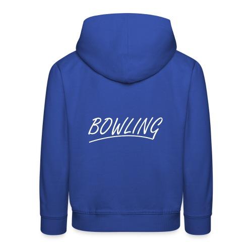 Bowling souligné - Pull à capuche Premium Enfant