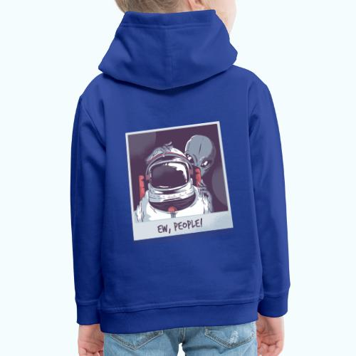 Aliens and astronaut - Kids' Premium Hoodie