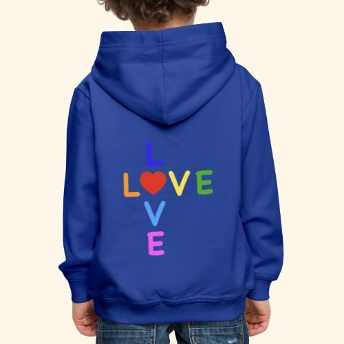 Rainbow Love. Regenbogen Liebe - Kinder Premium Hoodie
