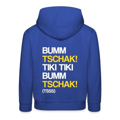 Bumm Tschak Tsss zweifarbig - Kinder Premium Hoodie