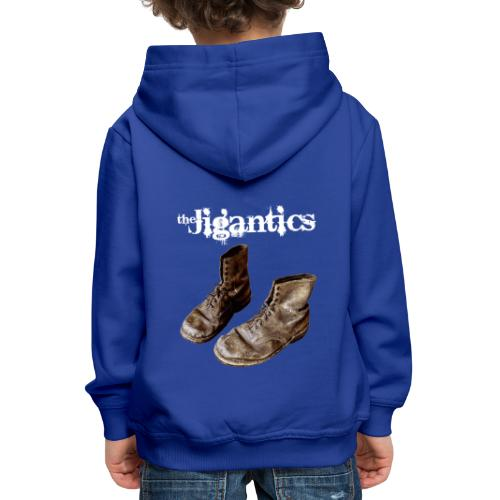 The Jigantics boot logo - white - Kids' Premium Hoodie