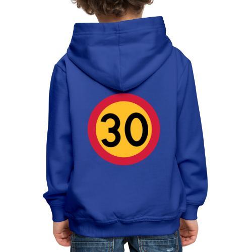 30 kph Road Sign Vector Design - Kids' Premium Hoodie
