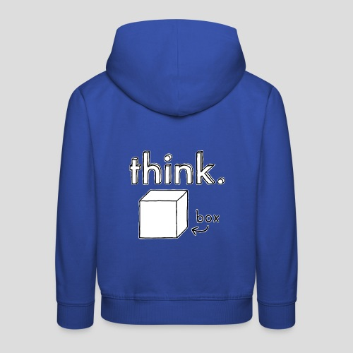 Think Outside The Box Illustration - Kids' Premium Hoodie
