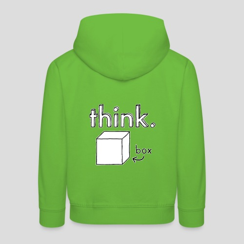 Think Outside The Box Illustration - Kids' Premium Hoodie