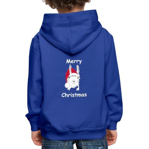 Weihnachtslama - Kinder Premium Hoodie