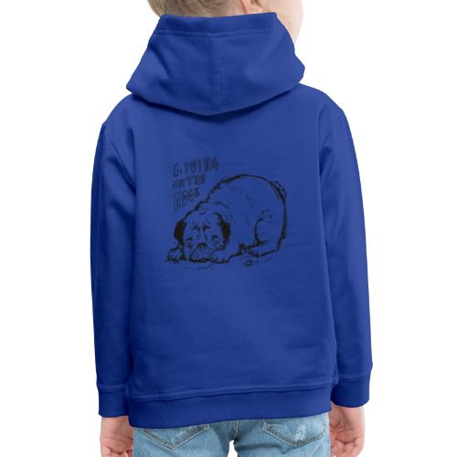 Living on the edge BLACK - Kids' Premium Hoodie