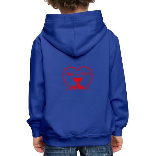 Io e te... RED - Felpa con cappuccio Premium per bambini