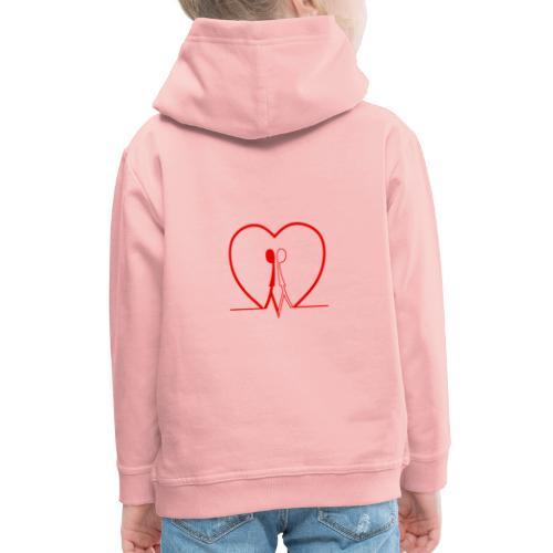 Non aver paura dell'uguaglianza... Man man RED - Felpa con cappuccio Premium per bambini