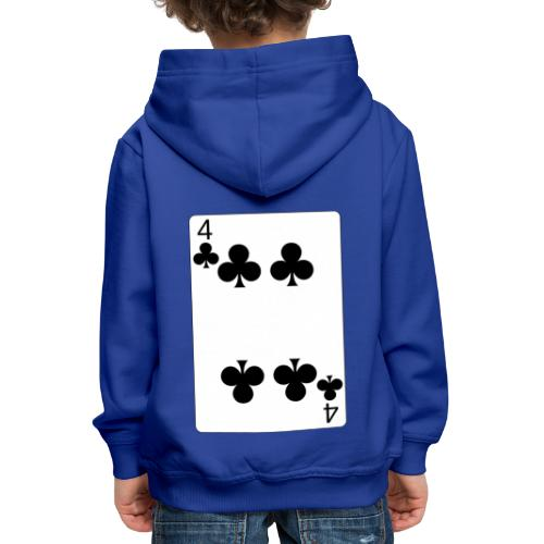 4 of clubs - Kids' Premium Hoodie