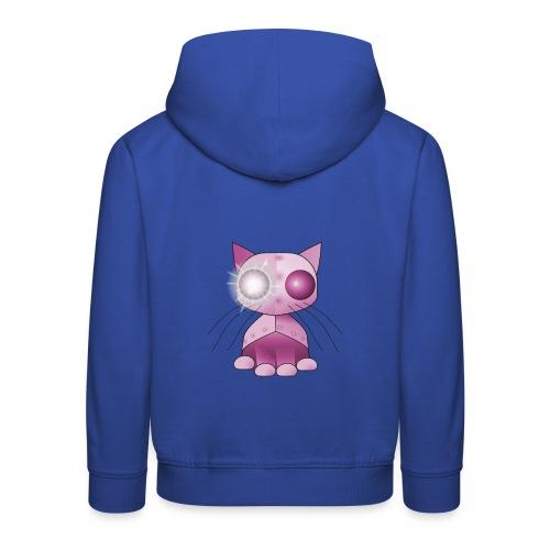 robotkatt rosa scifi leksak - Kids' Premium Hoodie