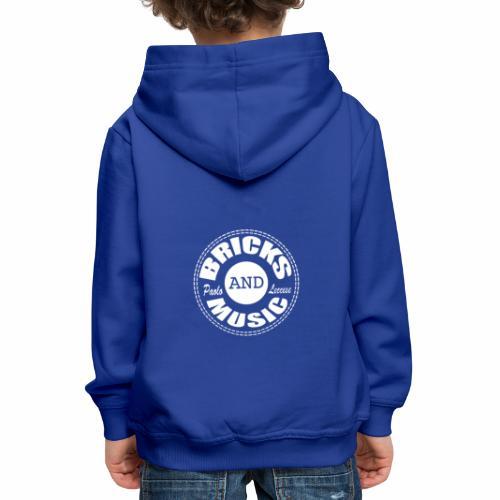 Logo bricks and music WHITE - Felpa con cappuccio Premium per bambini
