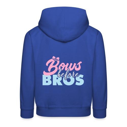 Bows Before Bros - Kids' Premium Hoodie