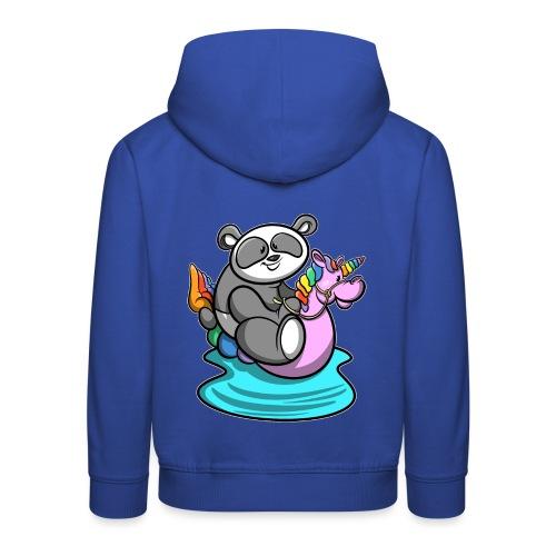 Panda mit Einhorn Schwimmreifen - Kinder Premium Hoodie