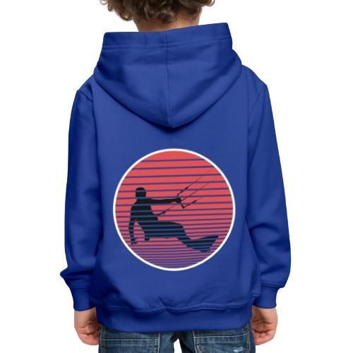 Kitesurfen der Sonne entgegen - Kinder Premium Hoodie
