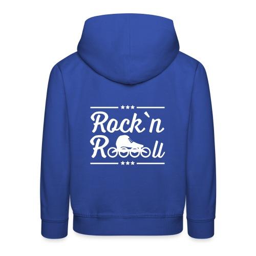 Rockn Roll Speedskating Weiss - Kinder Premium Hoodie